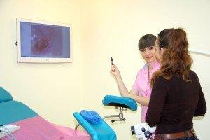 Женщина на приёме у гинеколога