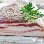 сало и жирное мясо
