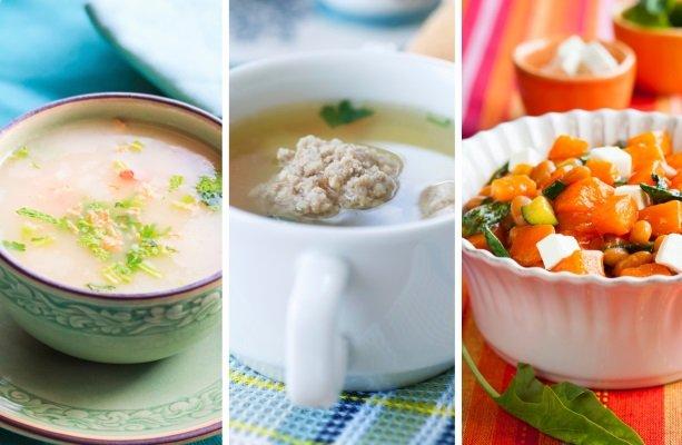 крем-суп, салат