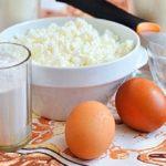 Яйца, творог, молоко