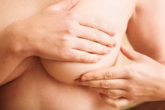 Пальпация молочной железы