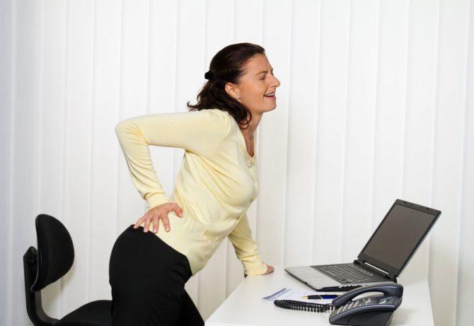 У женщины острая боль в копчике