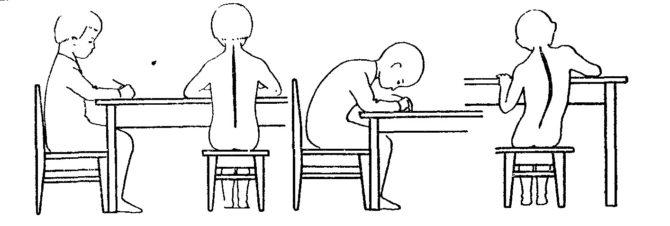 положение за письменным столом