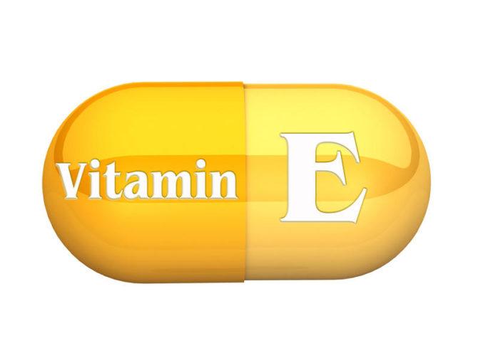 Капсула с витамином Е
