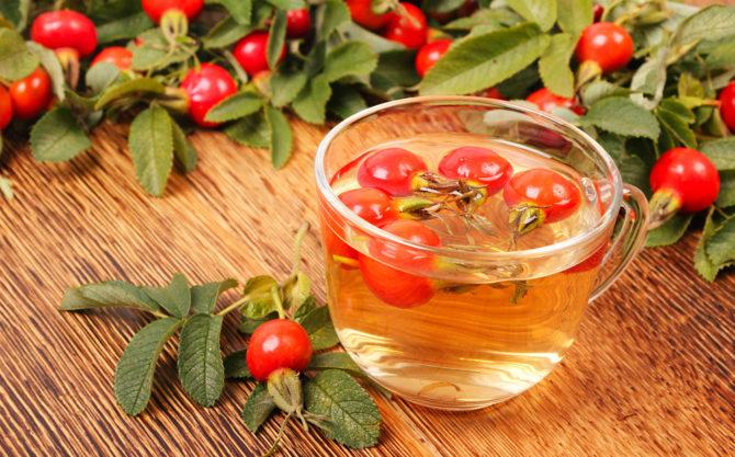 Чай из плодов шиповника