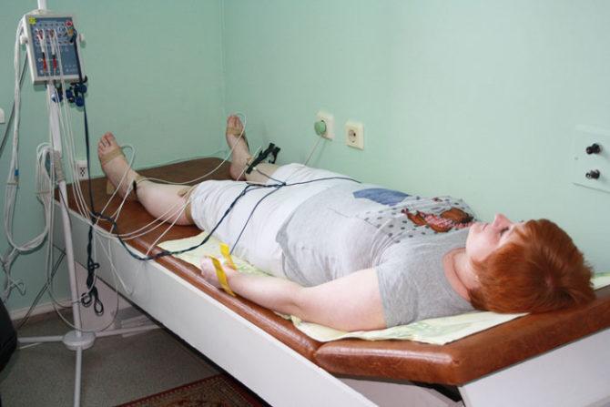 Пациент с подключенными электродами