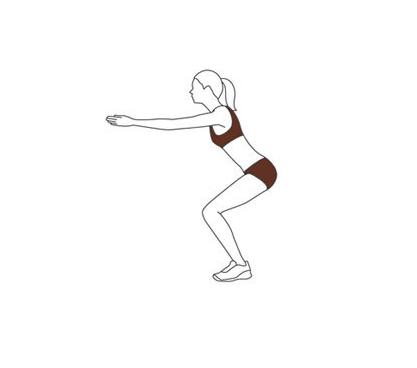 Упражнение — поза стула