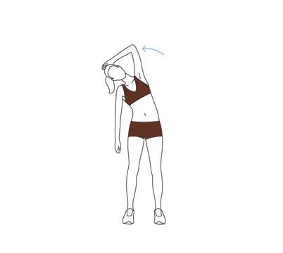 Упражнение — боковой изгиб стоя
