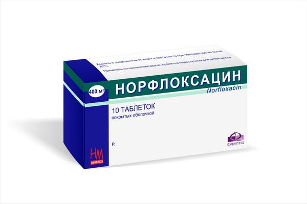 Норфлоксацин в форме таблеток