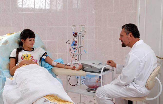 Процедура палазмафереза
