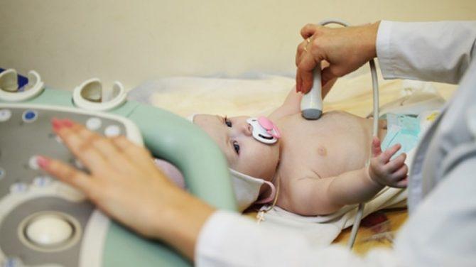 Процедура проведения УЗИ грудничку