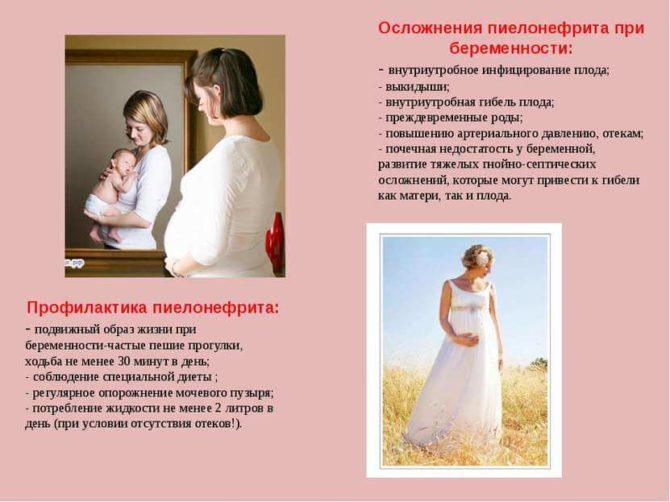 Профилактика и опасность пиелонефрита для беременных