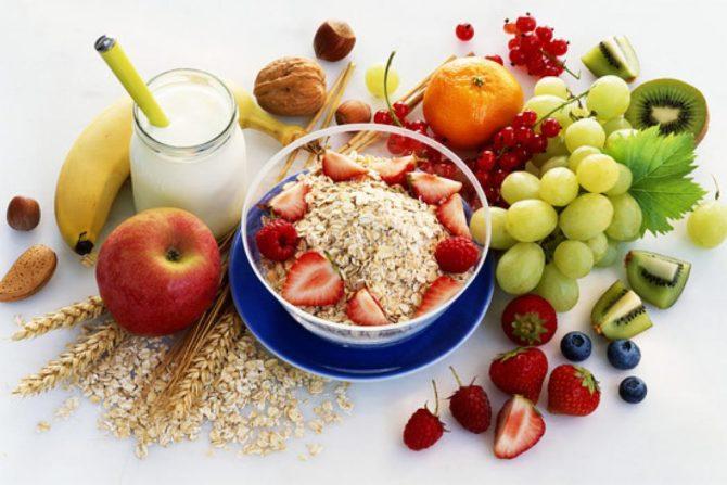 Овощи, фрукты и каши