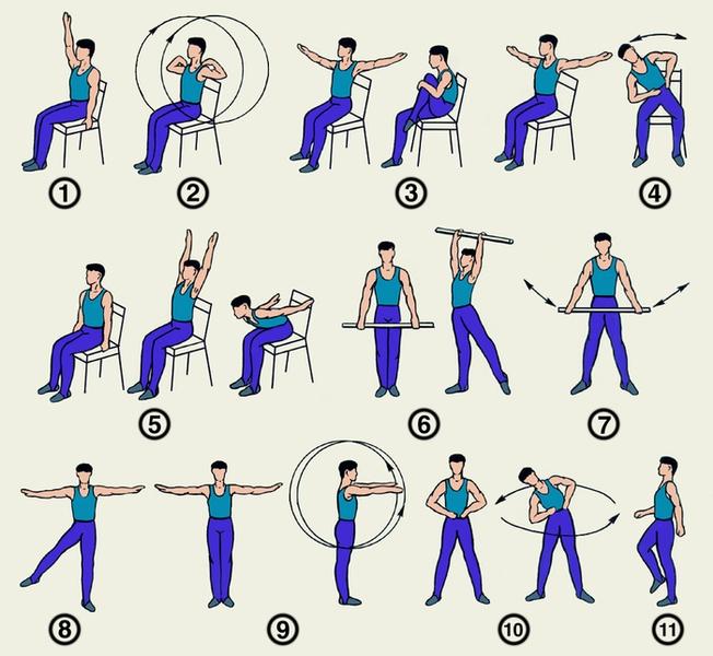 Примерный комплекс упражнений при паркинсонизме