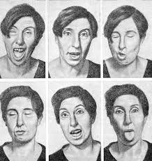 Лицо женщины с болезнью Гентингтона