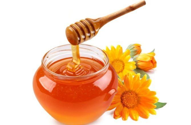 Мёд и цветки календулы