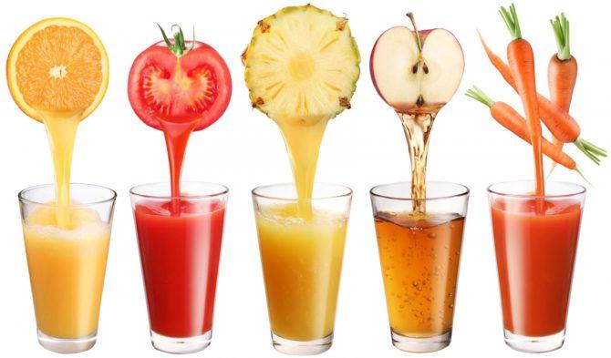 Соки из овощей и фруктов