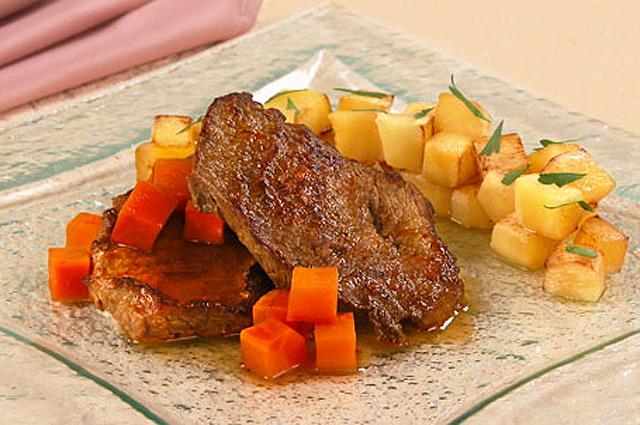 Рагу из телятины с кабачками